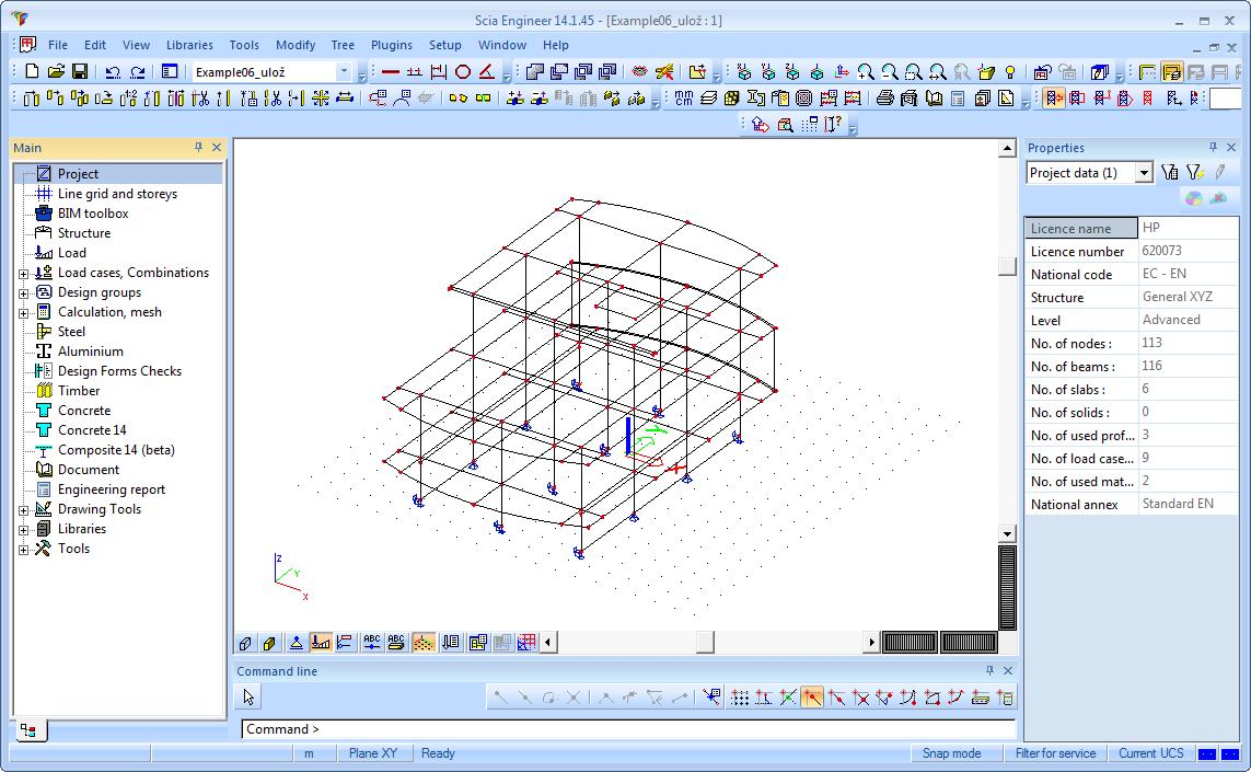 Revit Structure interface