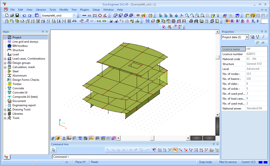 Revit Structure interface