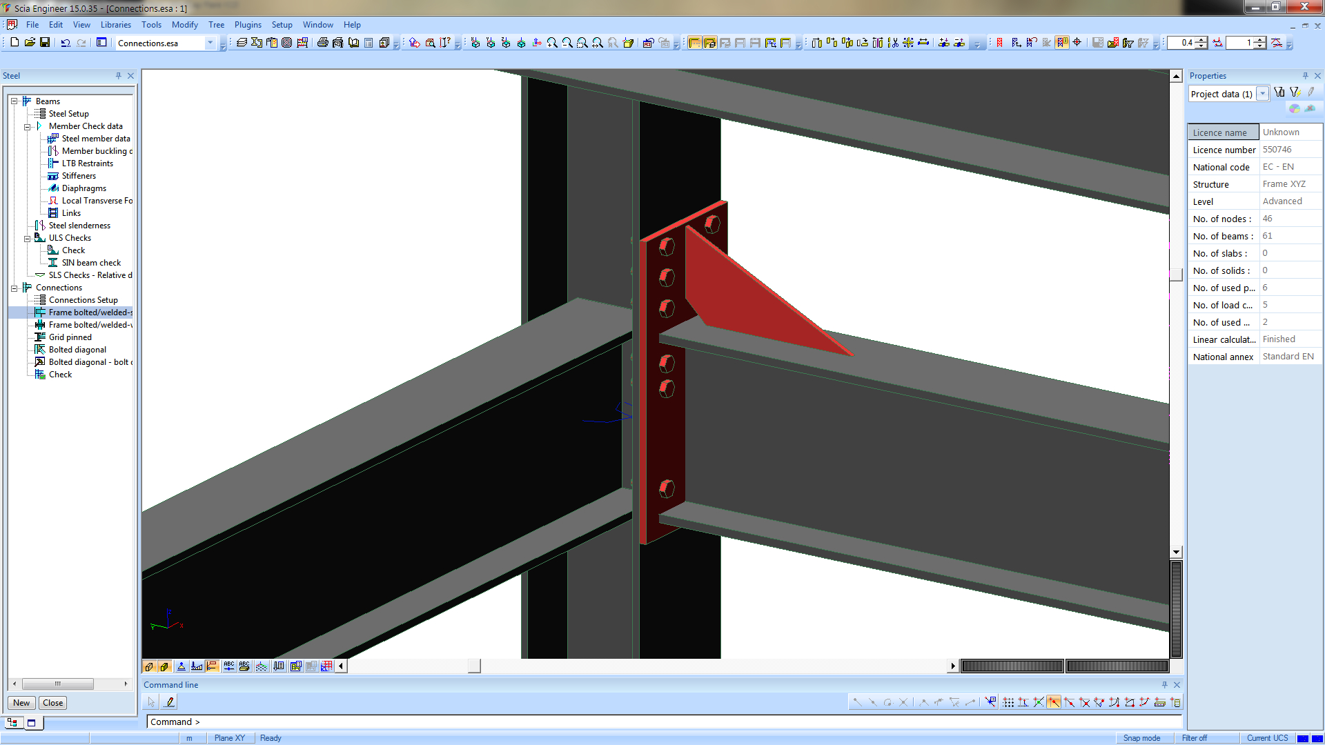 EC steel and timber design in SCIA Engineer 15